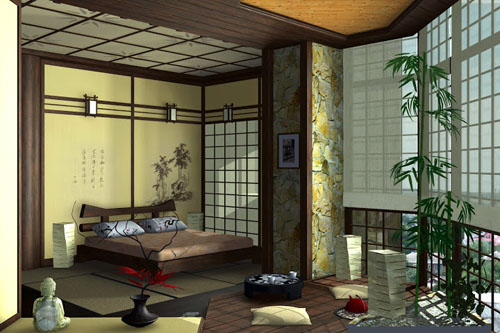 Комнатные растения в японском